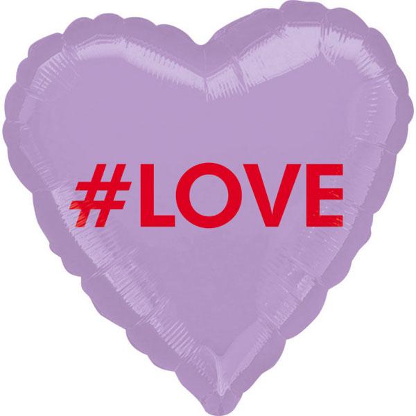 Ballon mylar coeur #LOVE