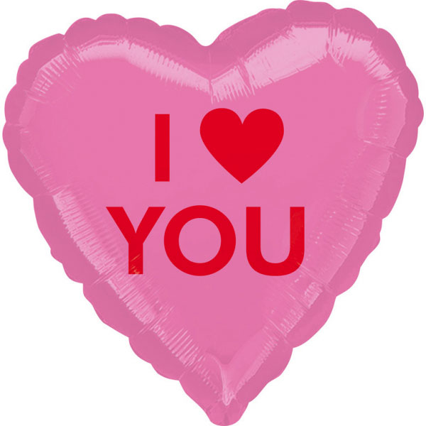 Ballon mylar coeur I LOVE YOU