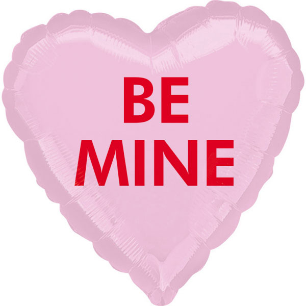 Ballon mylar coeur rose BE MINE