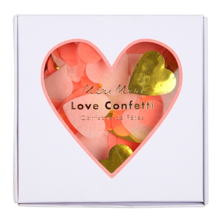 Confettis coeur en papier