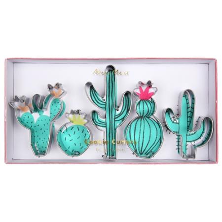 Set de 5 emporte-pièces cactus