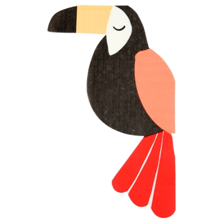 20 serviettes de table toucan