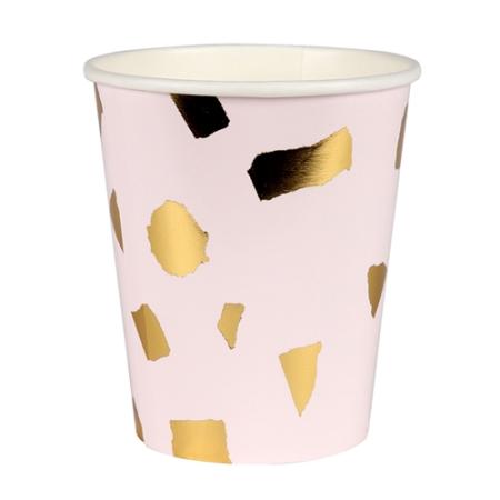 gobelet-fete-terrazzo-rose-dore-vaisselle-jetable-chic-meri-meri