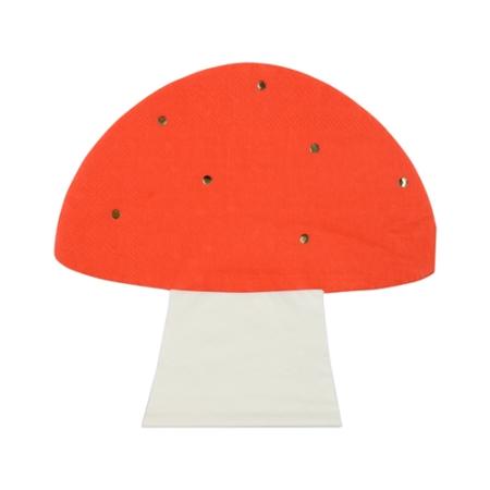 16 serviettes champignon