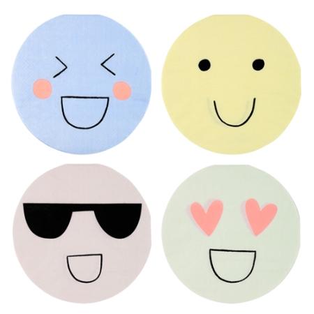 20 petites serviettes emoji