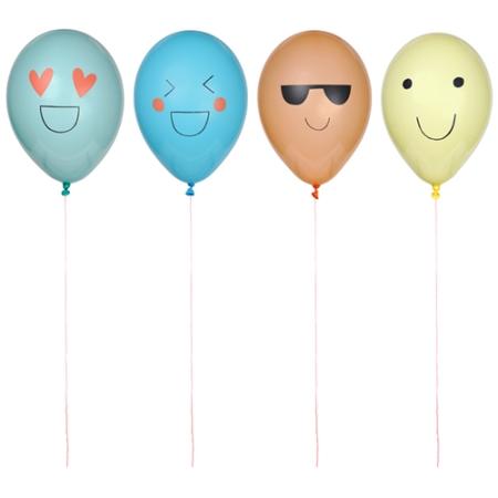 8 ballons de baudruche emoji