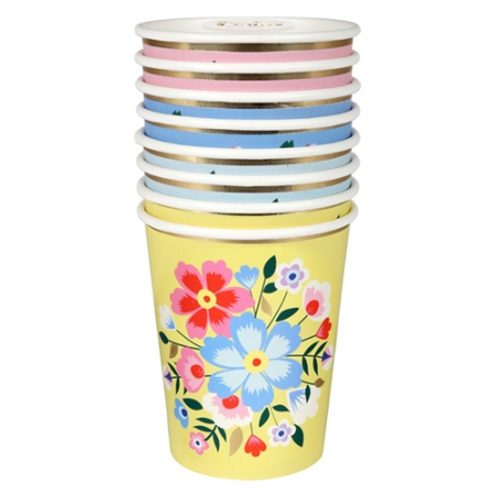 8 gobelets fleurs Cachemire