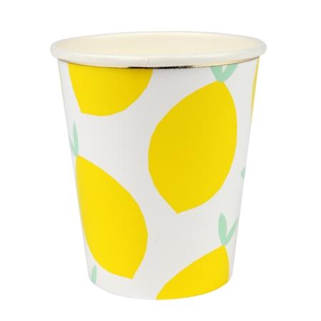 8 gobelets citron