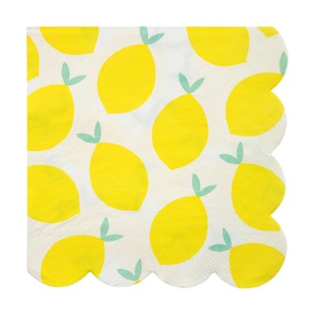 20 serviettes papier citron