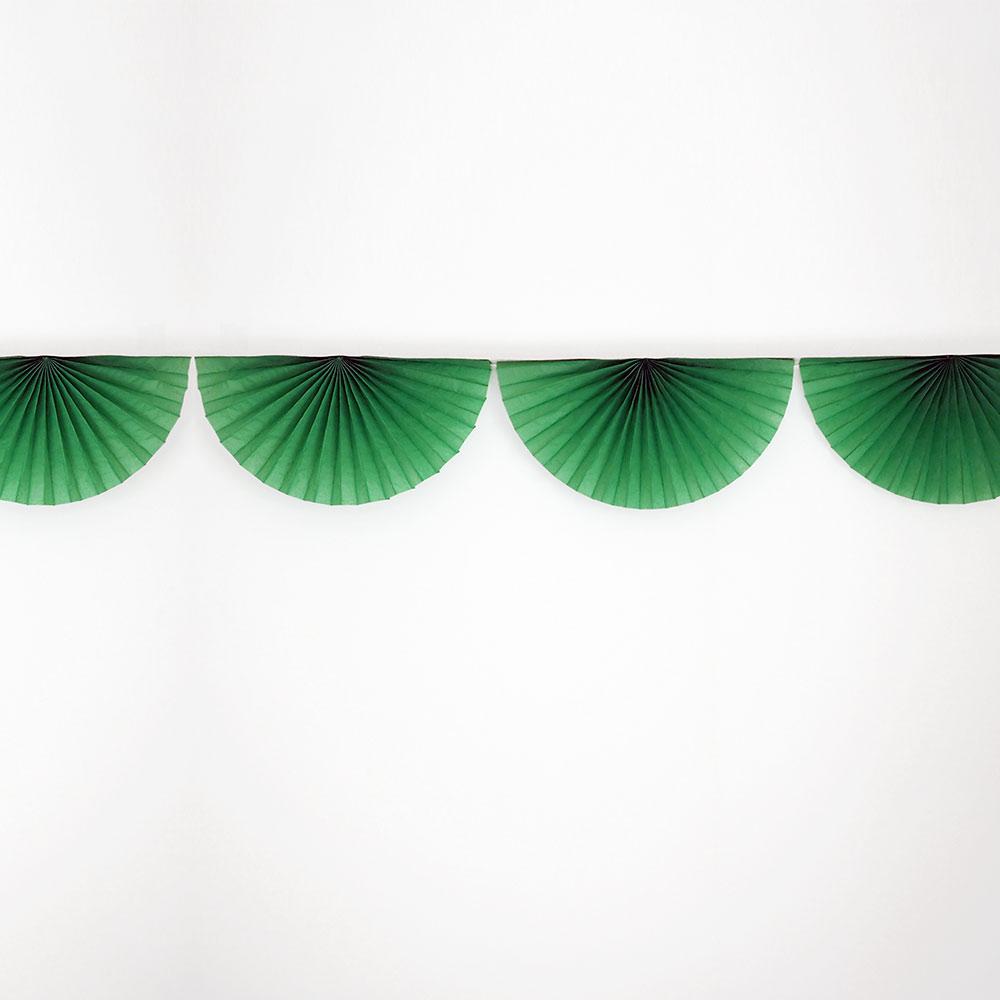guirlande-rosace-papier-vert