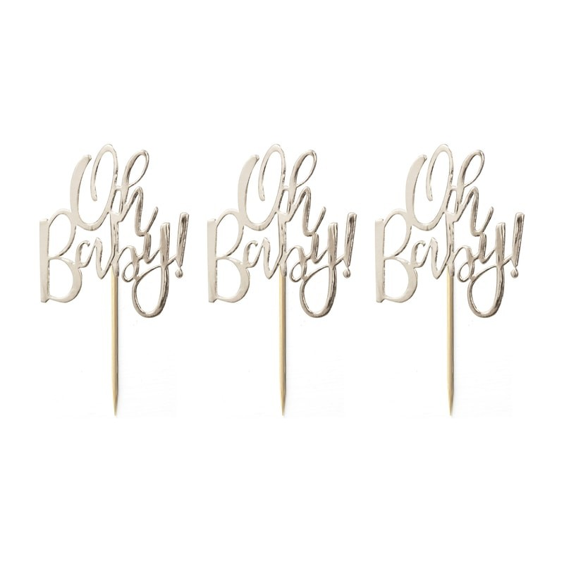 decor-gateau-oh-baby-dore-pour-baby-shower-ginger-ray