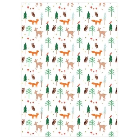 Rouleau de papier cadeau forêt