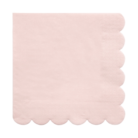 20 serviettes en papier rose blush