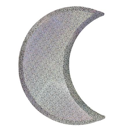 8 assiettes lune en carton holographique argent