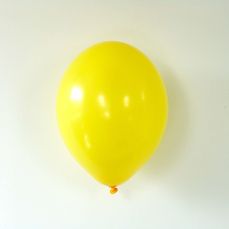 10 ballons de baudruche jaune tournesol