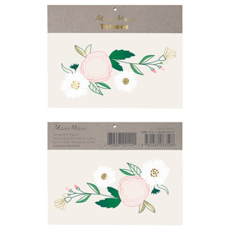 Tatouage floral - 2 planches