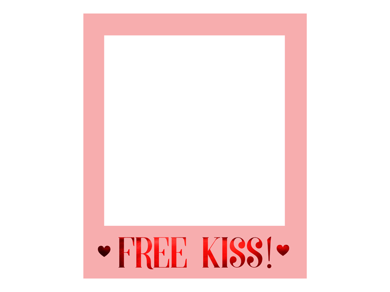 Cadre photobooth Free Kiss