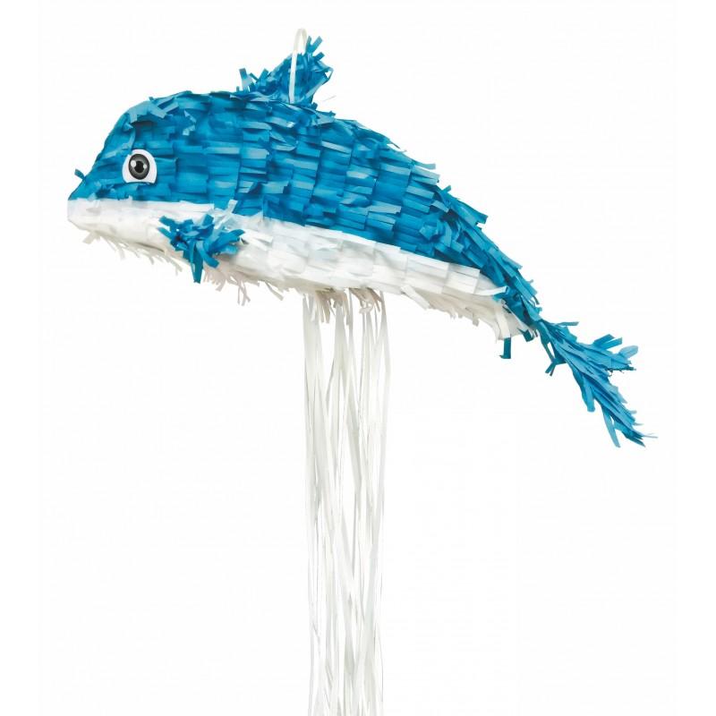 pinata-dauphin-anniversaire-sirene-theme-marin
