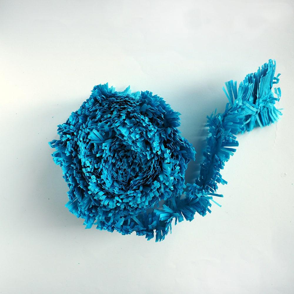 Guirlande à franges bleu