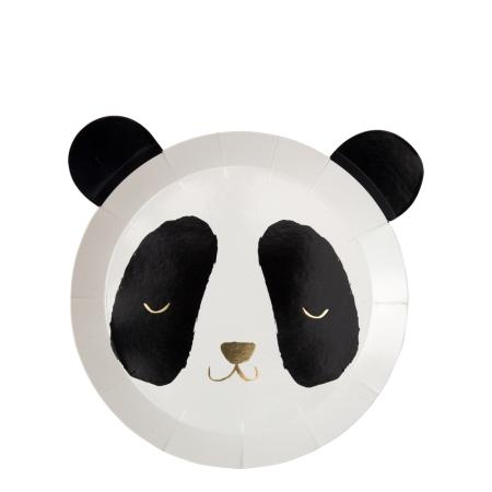 8 assiettes panda