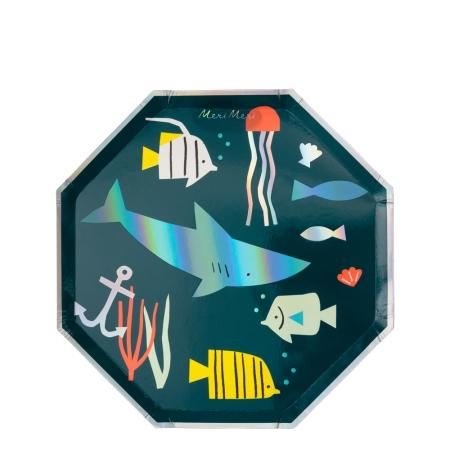 assiette-jetable-animaux-marins-vaisselle-anniversaire-theme-mer-meri-meri