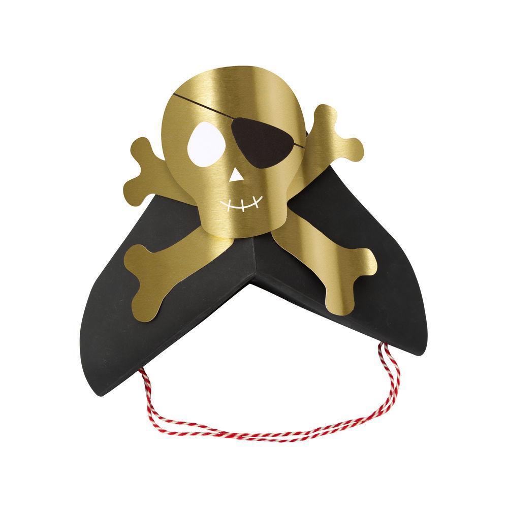 8 chapeaux pirate en papier