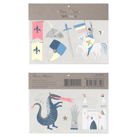 Tatouages chevalier et dragon