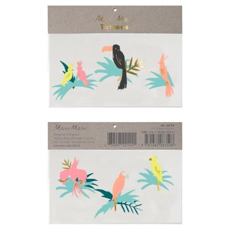 Tatouages oiseaux tropicaux