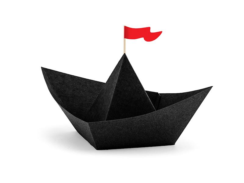 6 contenants bonbon bateau pirate