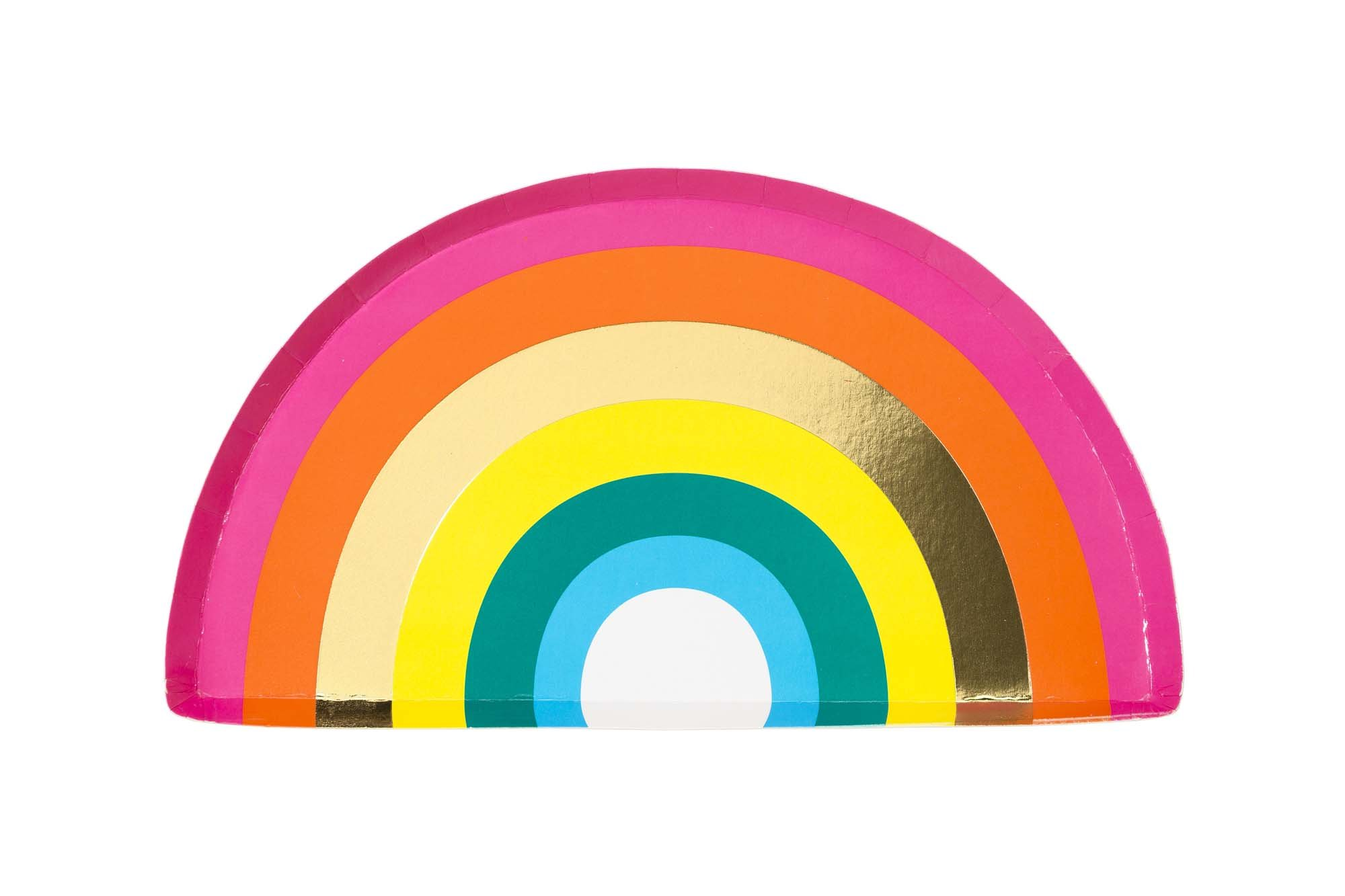 assiette-carton-arc-en-ciel-table-anniversaire-talking-tables