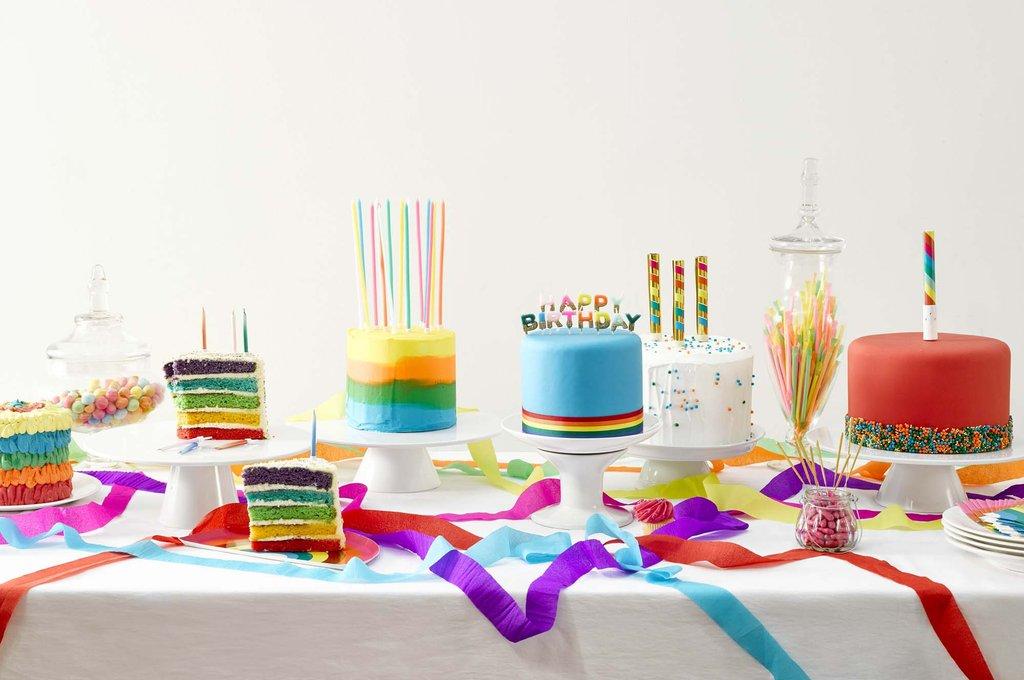 16 Grandes Bougies Anniversaire Multicolores
