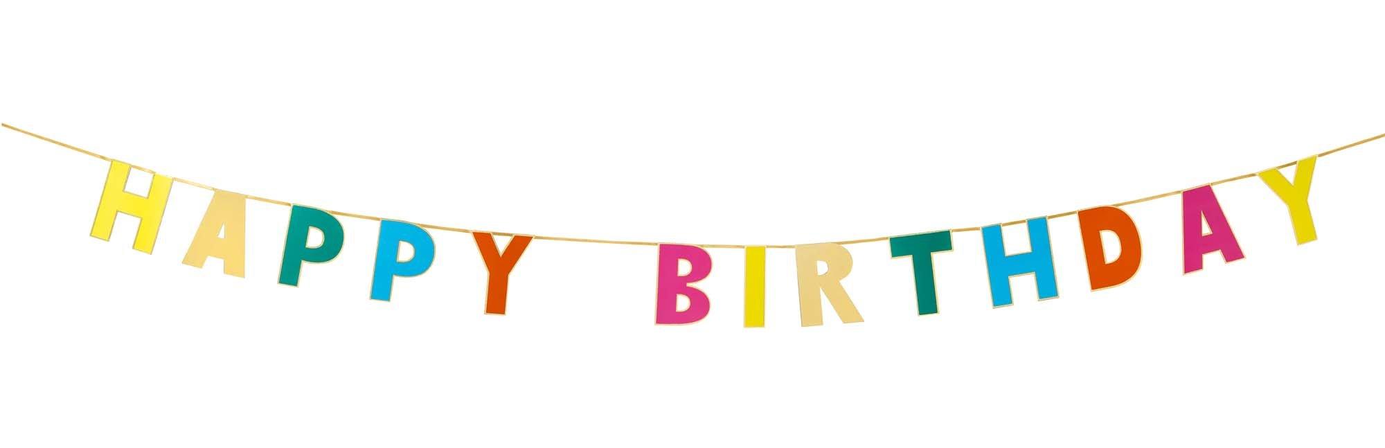 Guirlande joyeux anniversaire multicolore