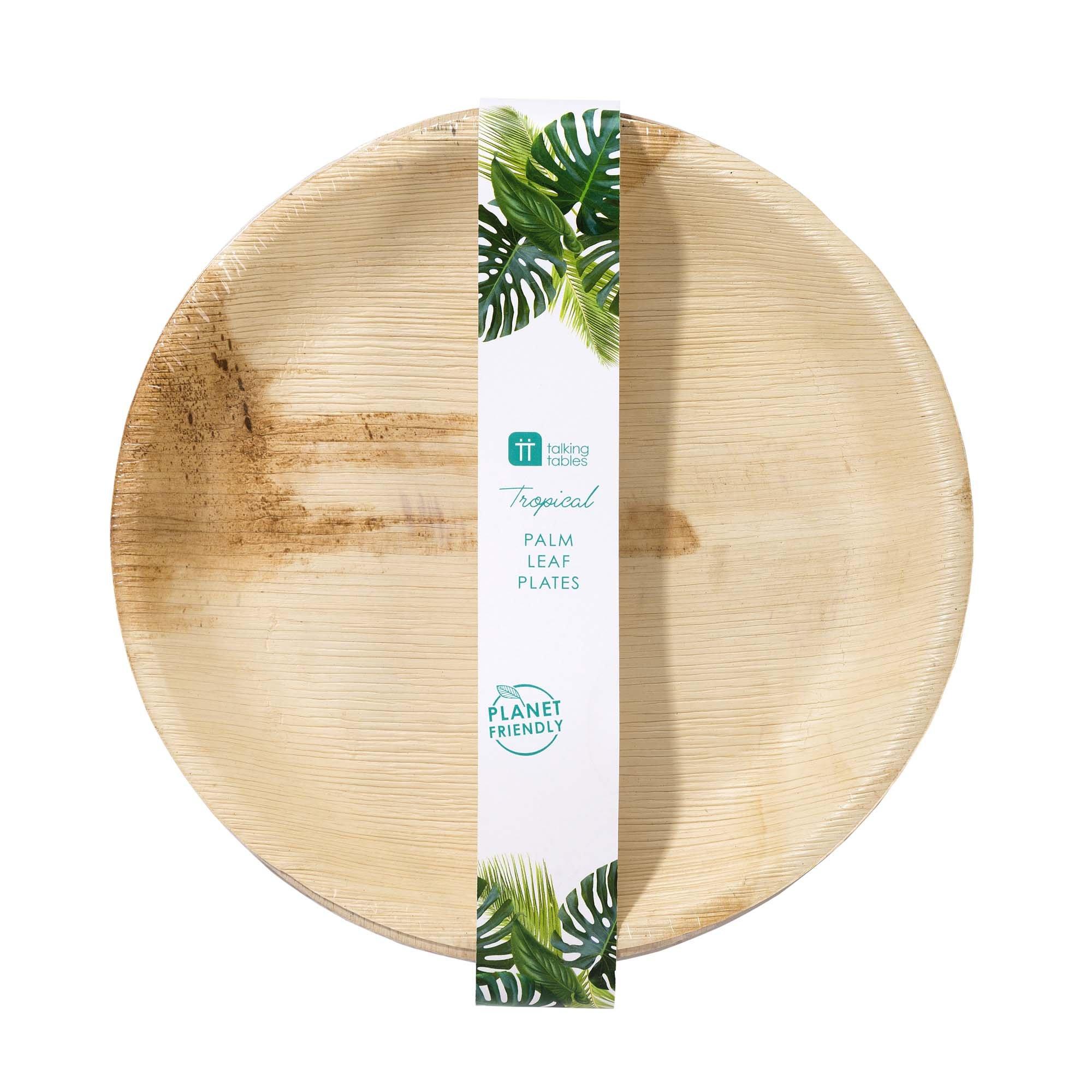 6 assiettes palmier