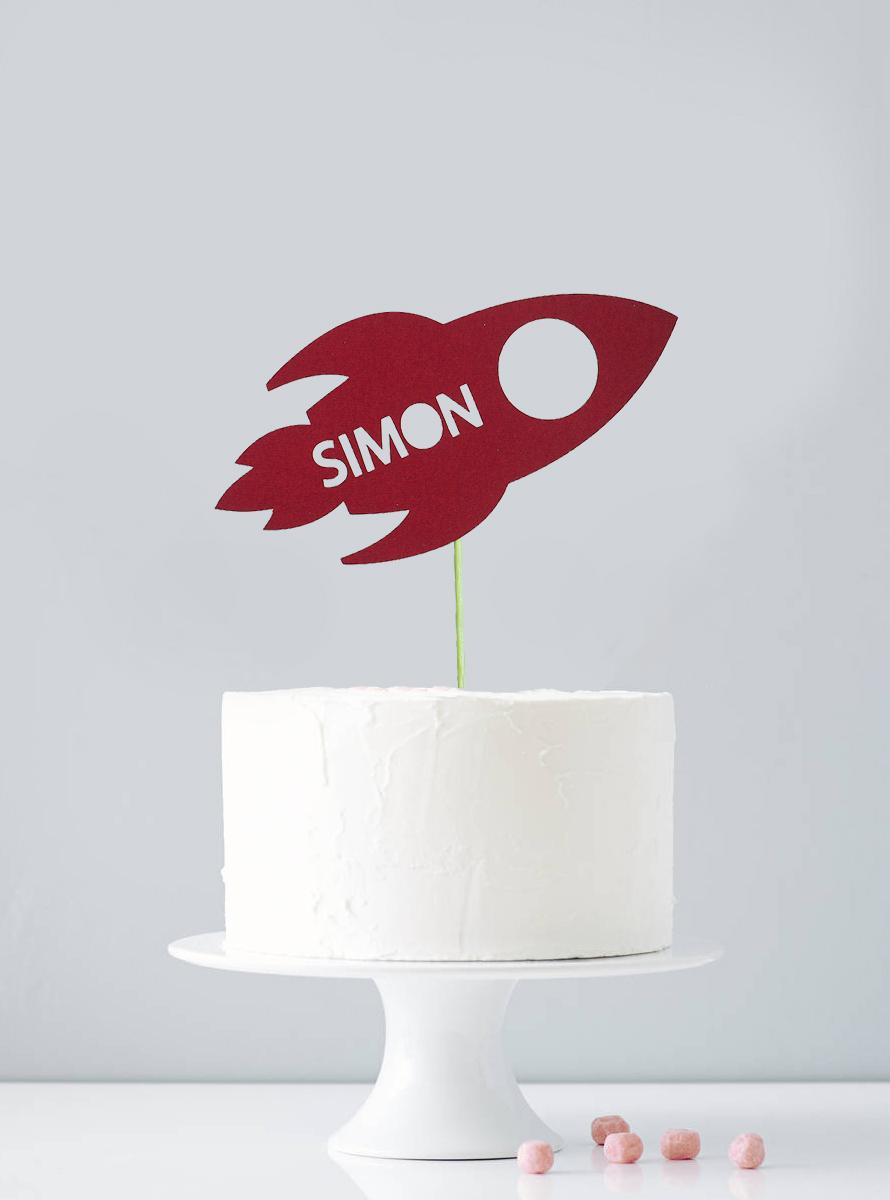 Cake topper personnalisé espace