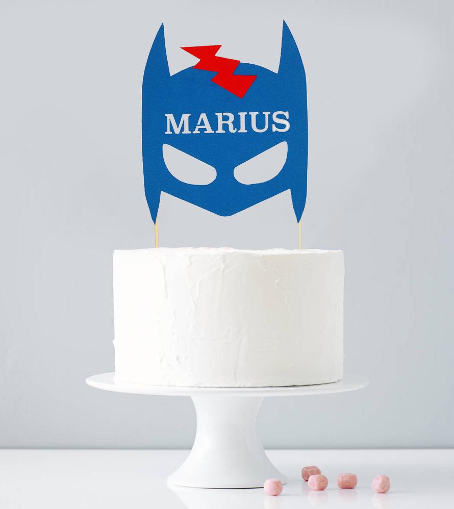 Cake topper personnalisé super-héros