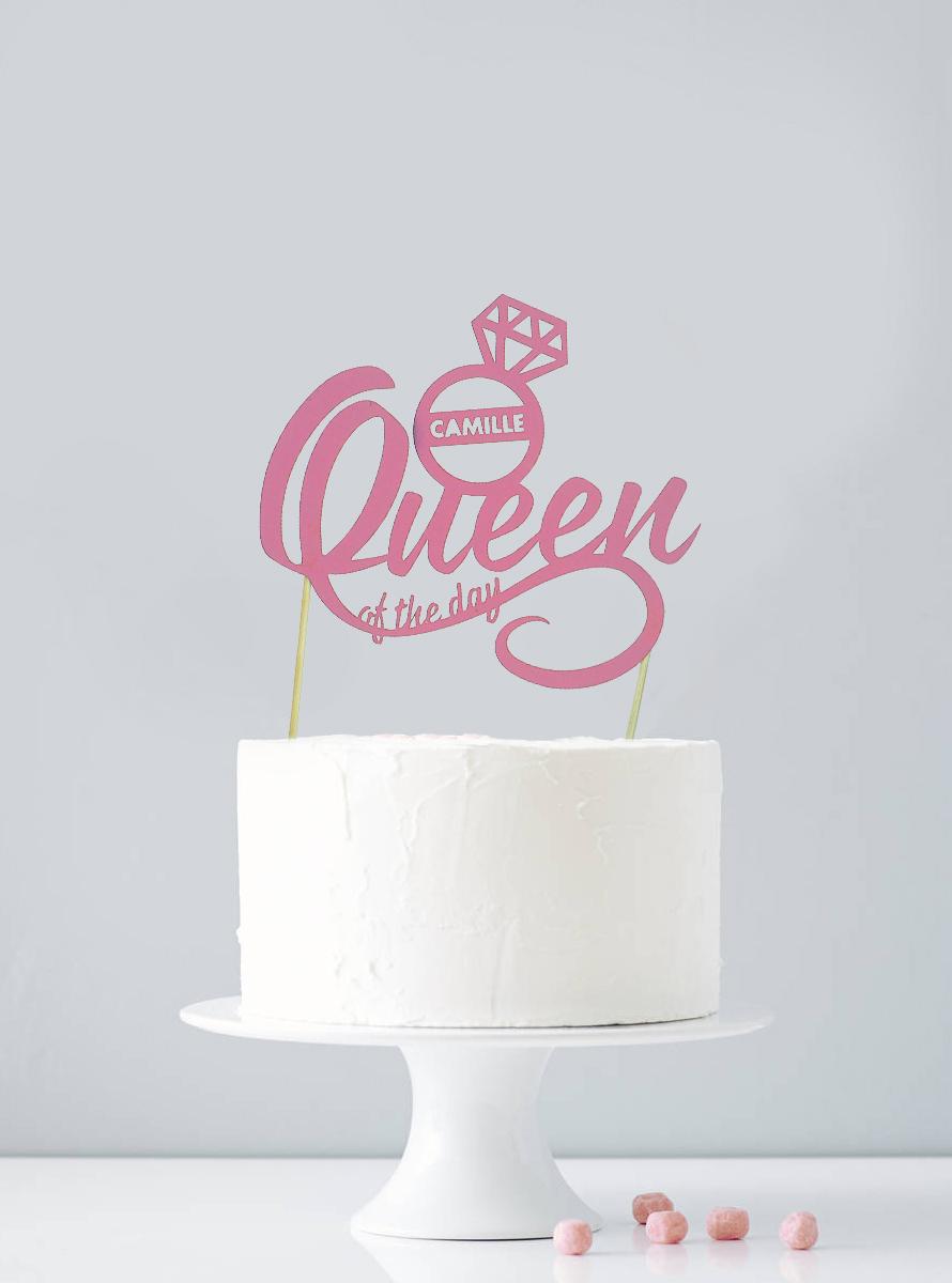 Cake topper personnalisé EVJF