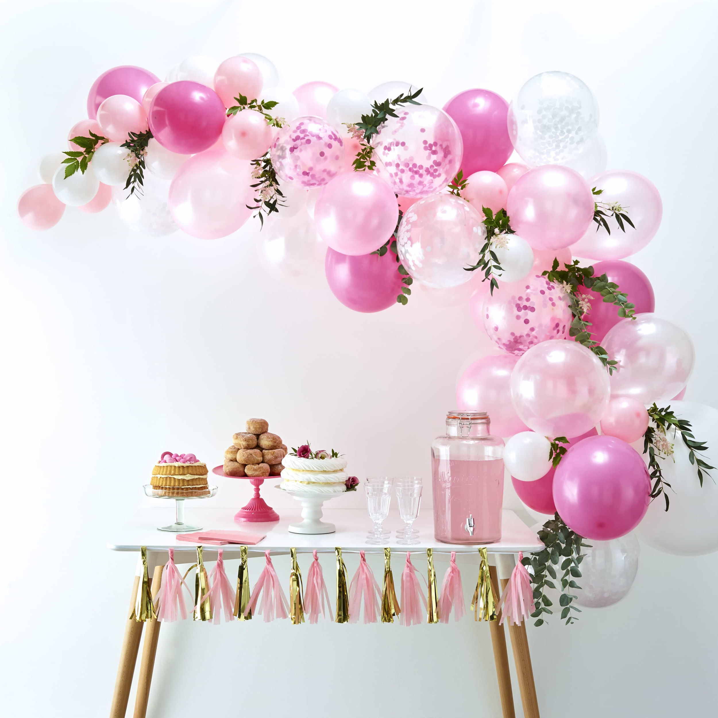 Kit arche de ballon rose