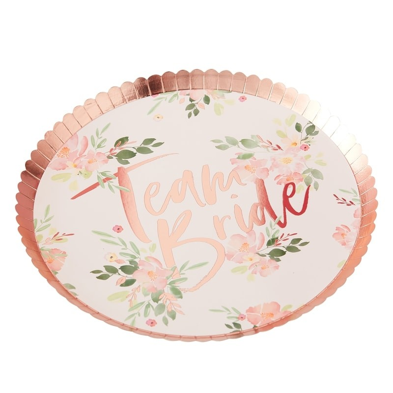 8 assiettes EVJF Team bride