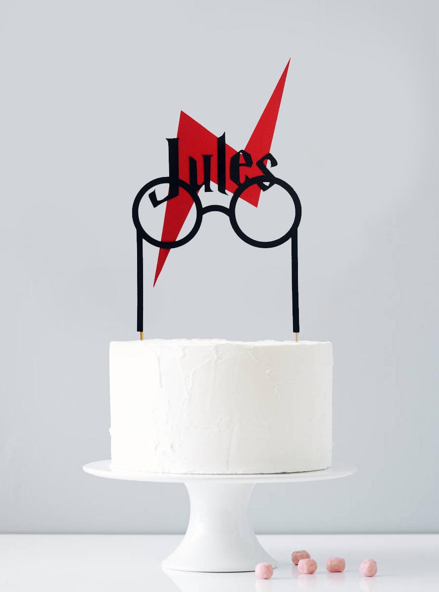 Cake topper personnalisé sorcier