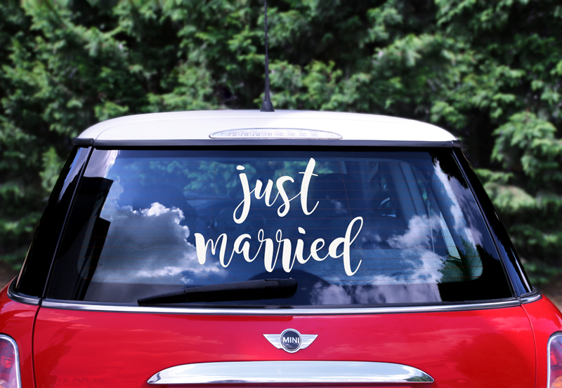 Sticker voiture Just Married