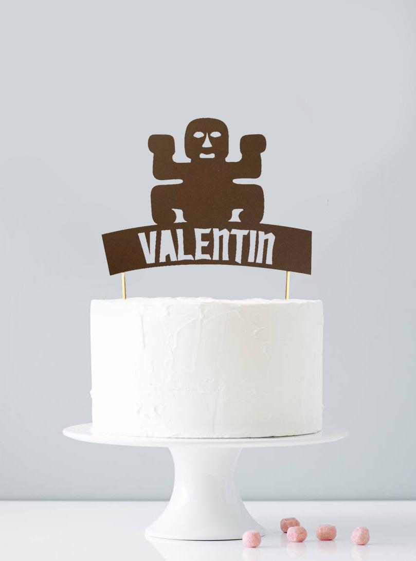 Cake topper personnalisé totem