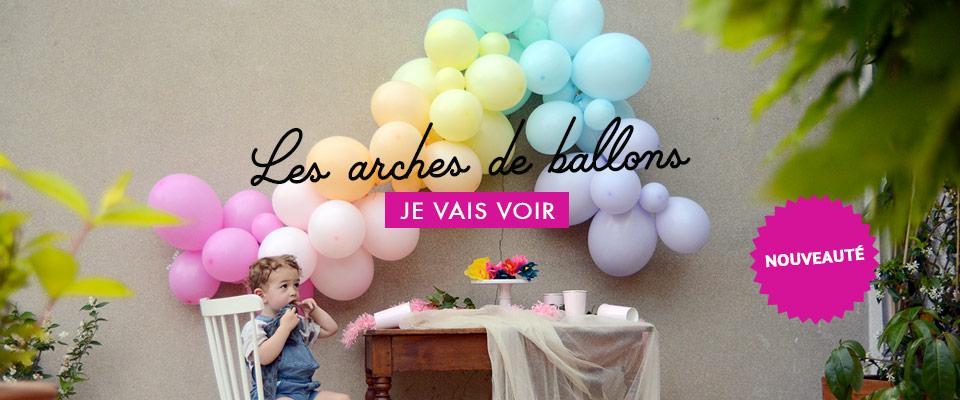 guirlande et arche de ballons sweet party day