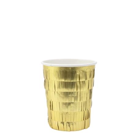8 gobelets franges dorées