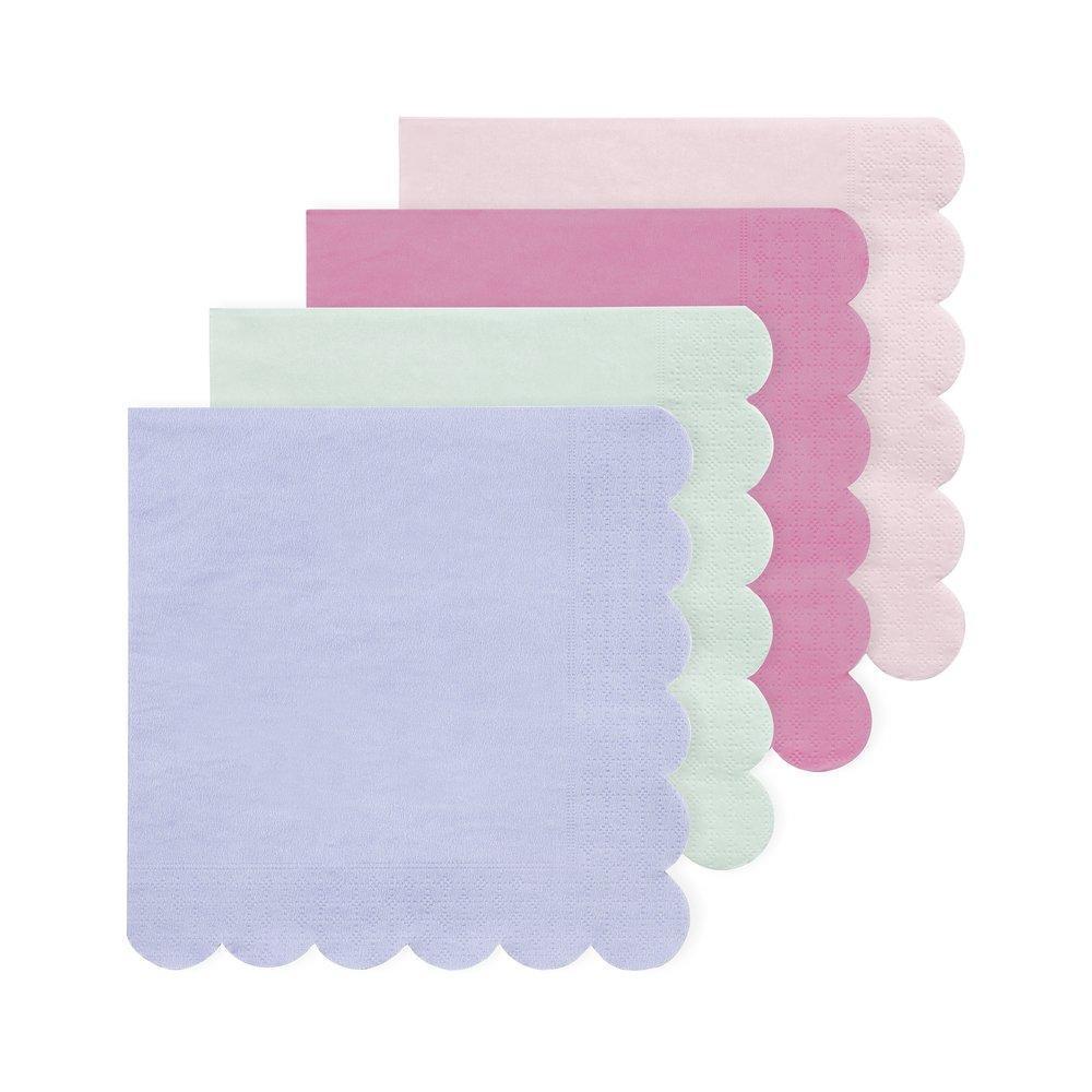 20 serviettes assortiment pastel