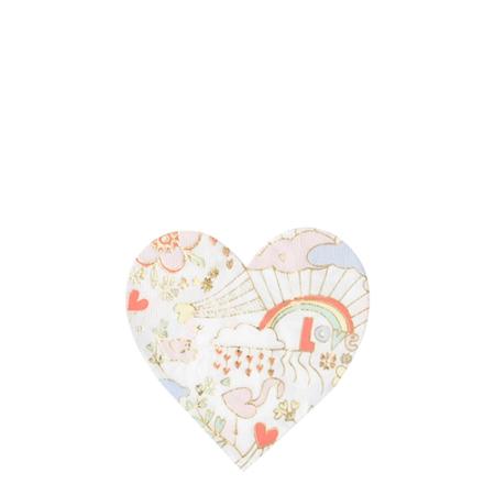 16 serviettes coeur coloriage