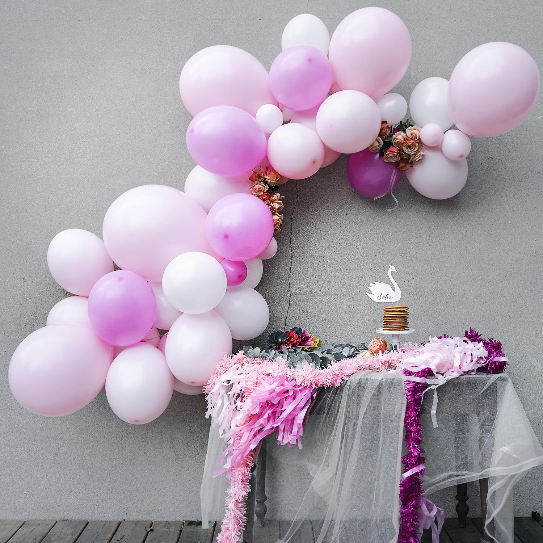 Guirlande de ballons rose