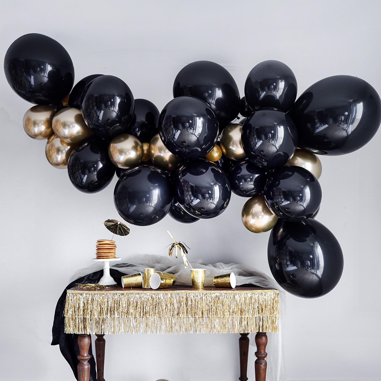 Guirlande de ballons noir et doré