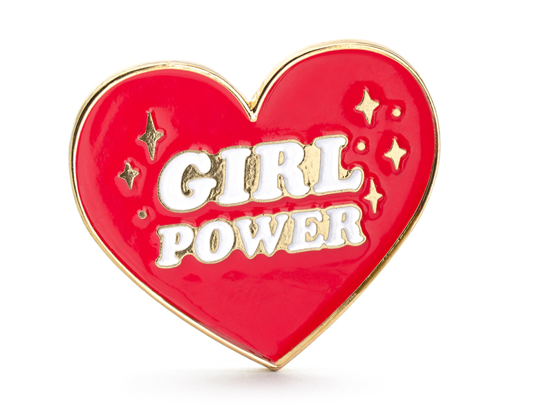 Pin\'s coeur rouge Girl Power