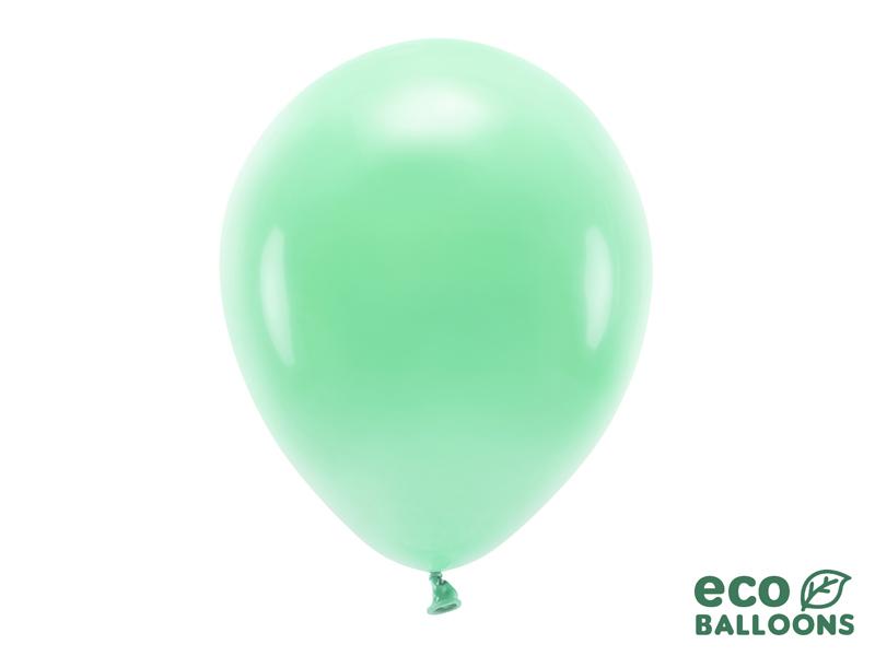 10 ballons de baudruche vert menthe