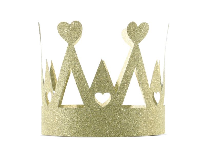 Mini couronnes de fête dorées à paillettes